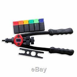 900pcs Riveteuse Gun En Acier Inoxydable Rivet Nuts Outils Insérez Mandrin Kit M3-m10 Be