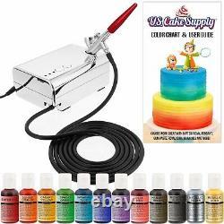 Airbrush Gun Kit Cake Decorating Air Compresseur Artisanat Complete Art Spray Paint