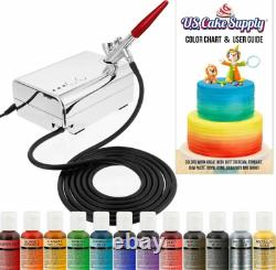 Airbrush Gun Kit Cake Décoration Air Compresseur Complete Craft Art Spray Paint