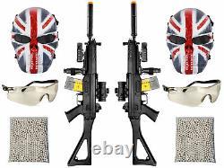 Airsoft Gun Rifle Kit De Démarrage De Groupe Électrique Full Auto 552 Style 2k Bulldog Bbs