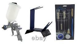 Anest Iwata Az3 Hte2 1.3mm Gravity Spray Gun + Kit De Nettoyage & Bench Gun Stand