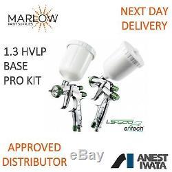 Anest Iwata Ls400 Hvlp 1.3 Entech Super Nova Pistolet Pulvérisateur Kit Pro Basecoat