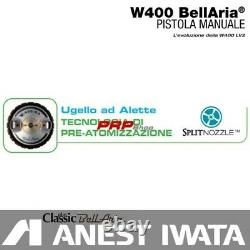 Anest Iwata W400 Bellaria Classic Plus Pro Kit 1.3 MM Pistolet À Vaporisateur Professionnel