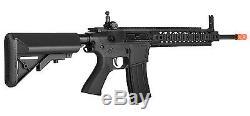 Black Lancer Tactical Aeg Sr-16 Carabine Airsoft Automatique Avec Poignée Moulée - Kit Complet