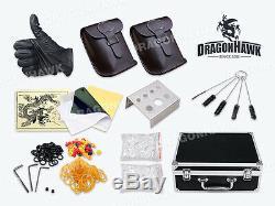 Boussole Professionnelle Machine De Tatouage Kit 2 Série Faire Cuire Les Encres Gun Alimentation Set