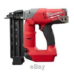 Brad Nailer Kit Pistolet À Clous Milwaukee Air Sans Fil M18 Avec Batterie, Outil De Calibre 18 Uniquement