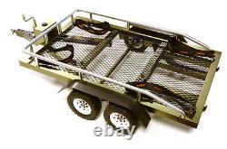 C27733gun Kit De Remorque À Double Essieu Plat Pour 1/10 Balance Rc 580x320x110mm