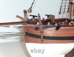 Caldercraft Hms Sherbourne 8 Canon Royal Navy Cutter 1763 Wood Kit 164 Échelle