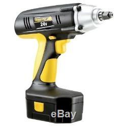 Chocs Sans Fil Portable Clé Kit Drill Gun 24v 1/2 Pouces Lecteur Chargeur De Batterie