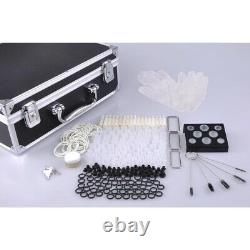 Complete Tattoo Kit 8 Machine Gun 54 Encre Power Supply Grip Tip Needle With Case
