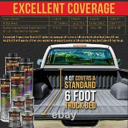 Cuirassé Dark Gray Urethane Spray-on Truck Bed Liner, 2 Gal Kit With Spray Gun