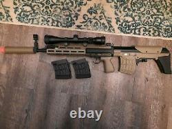 Cyma Svu Airsoft Aeg Sniper Rifle Dmr M-lok Kit Plein En Métal Avec Portée