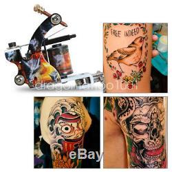 Débutant Tattoo Kit 4 Machine Gun 40 Couleur Aiguille D'alimentation D'encre D'alimentation Set Tip Grip