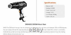 Deko 110v 2000w Heat Gun Contrôle De La Température Power Tool Kit Pistolet À Air Chaud