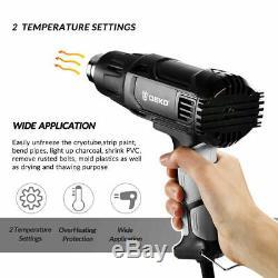 Deko 2000w Heat Gun Pistolet À Air Chaud Kit De Température Variable De Contrôle Power Tool