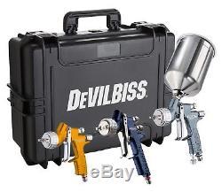 Devilbiss 704239 Kit Pistolet Pistolet Pour Peintre 3 Pistolets Tekna Premium