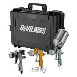 Devilbiss 704514 Tekna 3 Pc Gravity Pistolet À Kit Avec Dv1 Base Numérique