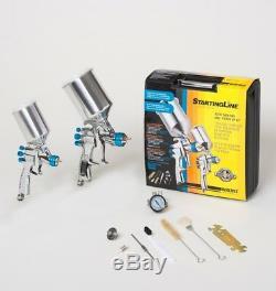 Devilbiss 802342 Startingline Hvlp 2-gun Peinture & Touch Up Kit 1.3 1.0 1.8
