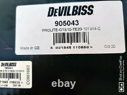 Devilbiss 905043 Prolite Gravity He Te10 Te20 1,2 1,3 1,4 Kit Pistolet À Vaporisateur Avec Tasse