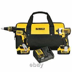 Dewalt Dck267m2 20-volt 4.0ah Lithium-ion Screw Gun Et Impact Driver Combo Kit