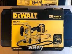 Dewalt Kit Pistolet Graisseur Dcgg571m1 Max 20 Volts Avec Batterie 4ah, Chargeur, Boîte De Kit