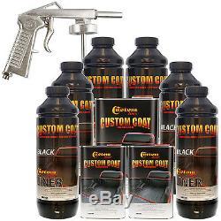 Doublure De Lit Custom Coat Noir Ensemble Pour Camion De Pulvérisation À Base D'uréthane, 6 L Avec Pistolet Gratuit