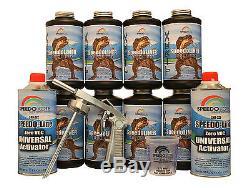 Doublure De Lit De Pulvérisateur T-rex Black, Kit De Doublure De Camion Smr-1000-k8 Avec Pistolet