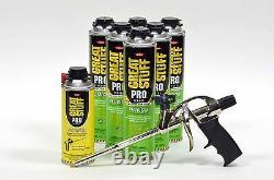 Dow Grand Stuff Pro Pestblock Kit Isolant De Mousse Avec Pistolet À Mousse Et Nettoyeur De Pistolet