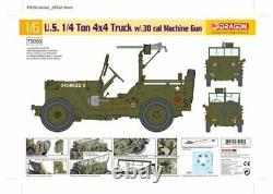 Dragon 1/6 Échelle 12 Wwii 1/4 Ton 4x4 Camion Avec. 30 Cal Machine Gun Kit 75050 Nouveau