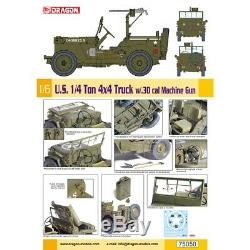 Dragon # 75050 1/6 U. S. 1/4 Ton 4x4 Camion. 30 Cal Mitrailleuse