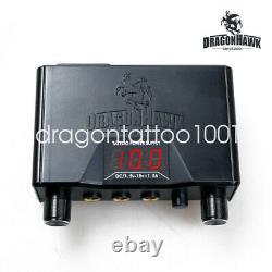 Dragonhawk Mast Tattoo Machine Gun Set Kit 2 Pcs Moteur Rotary Stylo Aiguilles De Puissance