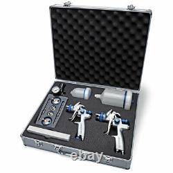 Eastwood Concours Pro Dual Paint Gun And Accessoriesdetail Equipment Tool Kit