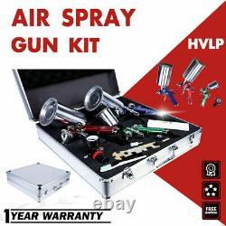 Etosha 3 Hvlp Air Spray Gun Kit Auto Paint Car Primer Détail Basecoat Clearcoat