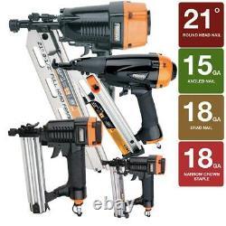 Finition De Framing Brad Nailer Stapler Kit Air Nail Gun Aluminium 4 Pièces Et Sac