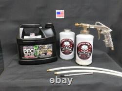 Gallon Pfc Black Rust Protection Pro Undercoating Spray Gun Kit 2 Baguettes 2 Qt