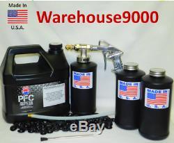 Gallon Pfc Rust Proof Spray Pro Undercoating Gun Kit 3 Bouteilles, 360 Lancette