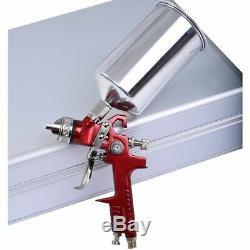 Goplus 3 Hvlp Air Spray Gun Kit Auto Peinture Primer Voiture Détail Basecoat Verni