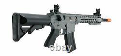 Grey Lancer Tactical Gen2 M4 Evo Aeg Keymod Airsoft Rifle Gun + Kit Batterie 9.6