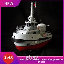 Hdms Alsin Pusher/tug Scale 1/48 333 MM 76 MM Canon Principal Modèle De Navire