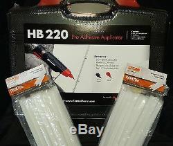 Hot Melt Glue Gun Kit Fastenmaster / Pam Hb220 Et 36 Flex 40 Bâtons De Colle