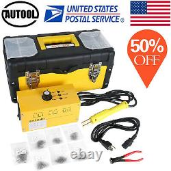 Hot Stapler Plastic Welder Kit Car Bumper Repair Plastic Welding Gun+700 Agrafes
