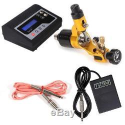 Hummingbird Pro Rotary Tattoo Machine Gun & Kit De Pédale De Pédale D'alimentation Sr2 Yell