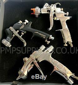 Iwata Triple Pistolet Kit Négociation Ws400 1.3hd, Junior 1.0, Chrome 1.8 De Flash