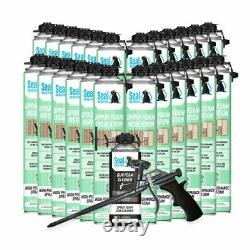 Joint Spray Closed Cell Insulating Foam Can Kit Withgun Applicator&cleaner (600 Bf)