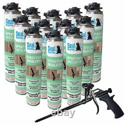 Joint Spray Closed Cell Insulating Foam Can Kit Withgun Foam Applicator (300 Bf)