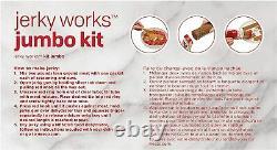 Jumbo Jerky Works Homemade Meat Beef Jerky Maker Gun Spices Seasoning Kit Nouveau