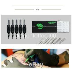 Kit 4 Dragonhawk Tattoo Machine Gun 40 D'encre Couleur D'alimentation Aiguilles Conseils Grips