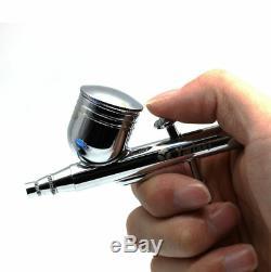 Kit Airbrush Compresseur D'action Double Gun Sableuse Peinture Art Pour Voiture Paintjob