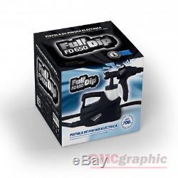 Kit Complet De Pulvérisateur De Pistolet De Pulvérisation De Peinture Électrique Hvlp Pour Le Vinyle Liquide Plasti Dip