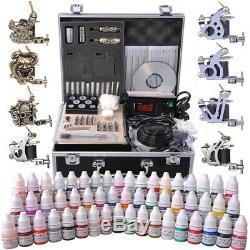 Kit Complet De Tatouage 8 Aiguille De Pointe D'alimentation Pour Machine À Encre 54 Pour Machine À Encre Avec Étui